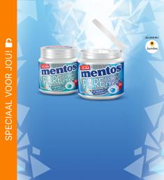 Mentos Pure Fresh Frost Kauwgum: van €3,79* voor €1,-