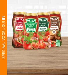 Heinz [Seriously] Good Pastasauzen: 1+1 gratis