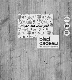 Bladcadeau: vanaf €5,- voor €2,50