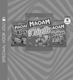 MAOAM Pinballs, Stripes of Bloxx: van €1,59* voor €0,50