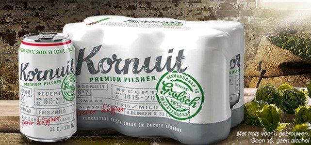 €5 terug bij 3x 6-pack Kornuit