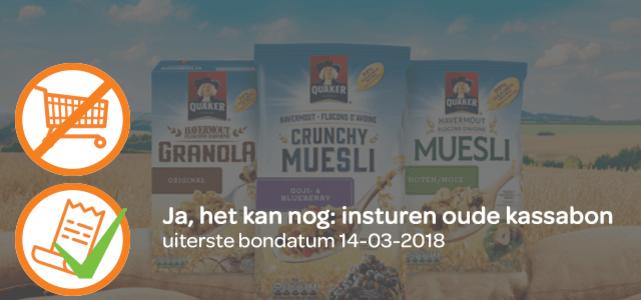 Quaker Havermout Muesli óf Granola: van €2,30* voor €1
