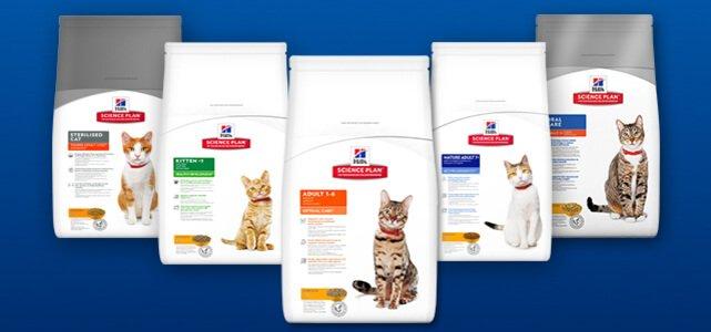 Hill's™Science Plan™ kattenvoeding: van €24,20* voor  €12,10