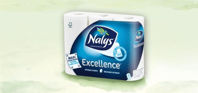 Nalys Excellence 6 of 10+2 rol: van €3,59* voor €1,80
