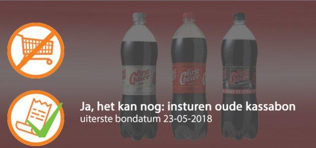 First Choice Cola 1,5 l: van €1,29* voor €0,50
