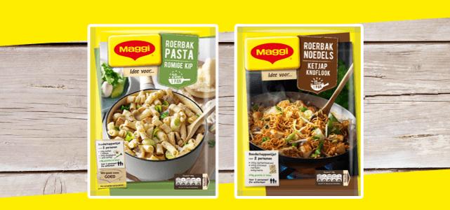 MAGGI Roerbaknoedels óf -pasta: voor €0,50