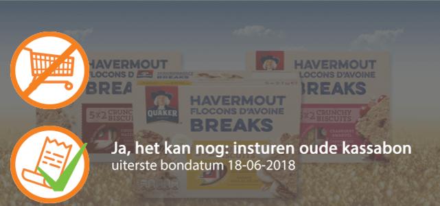Quaker Havermout Breaks: van €1,99* voor €1,-