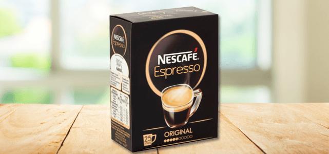 NESCAFÉ Espresso 25 sticks: van €2,59* voor €1,-