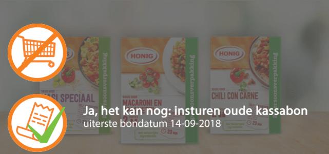 Honig maaltijdmix (2 pers. verpakking): van €0,79* voor €0,-