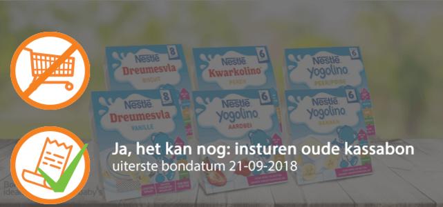 Nestlé Yogolino®: van €2,59* voor €0,50