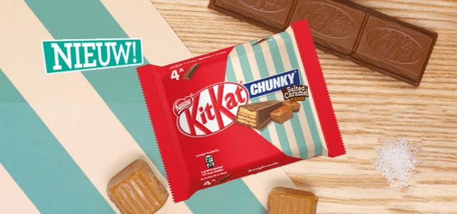 KITKAT CHUNKY Salted Caramel Fudge: van €2,39* voor €1,-