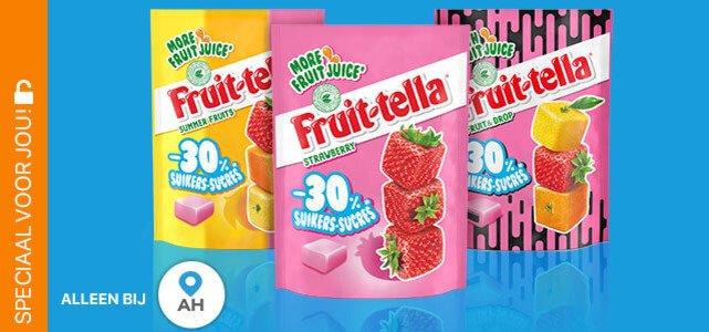 Fruittella 30% minder suiker: van €1,65* voor €0,50