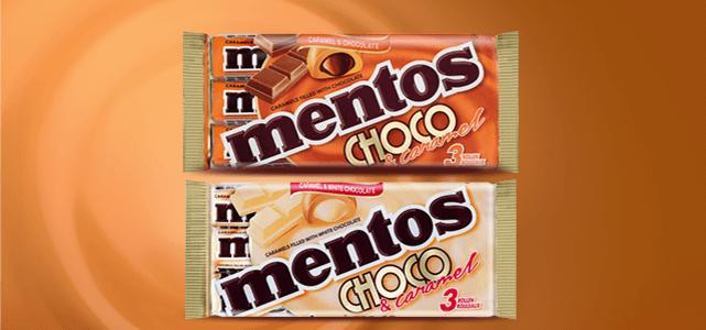 Mentos Choco & Caramel: van €1,84* voor €0,92