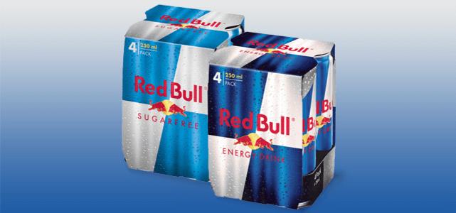 Red Bull 4-pack: van €5,40* voor €3,40