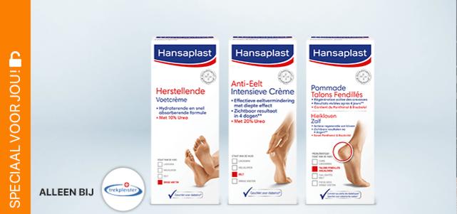 Hansaplast Voetcrème (Trekpleister): bijv. €7,99* voor €3,99
