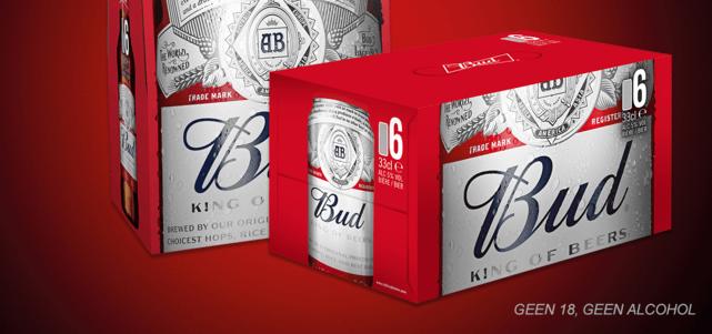 Bud 6-pack bijv. blik : van €5,89* voor €2,95