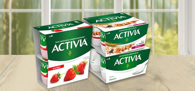 Alle Activia 4-pack varianten: van €1,59 - 2,15* voor €0,50