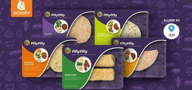 FiftyFifty 50% vlees 50% groente: van €2,99* voor €0,50