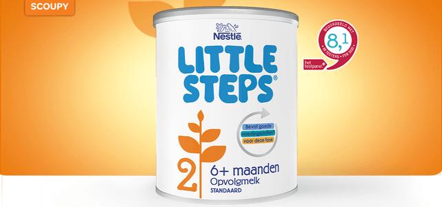 LITTLE STEPS® 2 opvolgmelk: van €10,-* voor €4,-