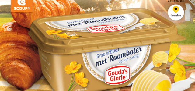 Gouda's Glorie met roomboter: van €1,99* voor €1,-