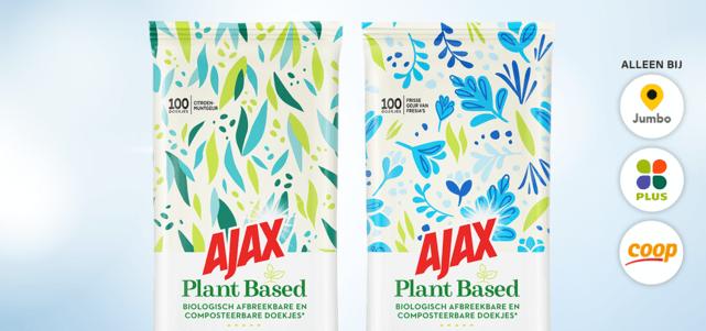 Ajax Plant Based Reinigingsdoekjes: van €3,99* voor €2,-