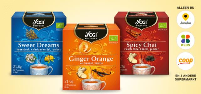 Yogi thee: van €2,59* voor €1,30
