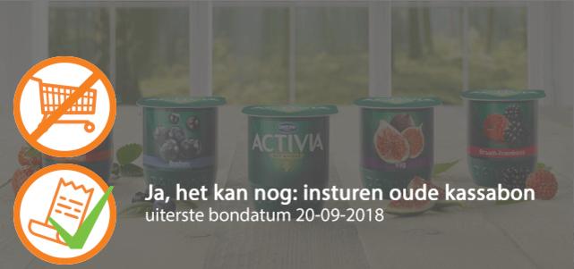 Activia Fruit 4-pack: van €1,99* voor €0,50