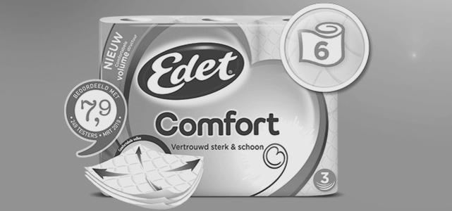 Edet Comfort 6 rollen: van €2,99* voor €1,-