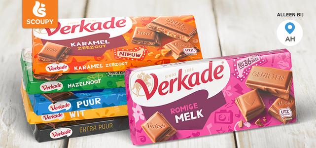 Verkade Karamel Zeezout chocolade: van €1,65* voor €0,75