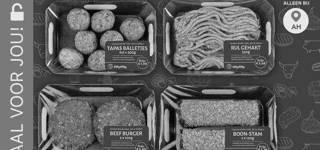FiftyFifty 50% vlees 50% groente: van €2,79* voor €1,-
